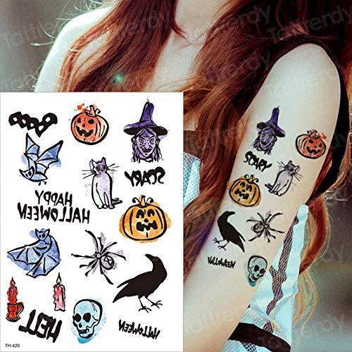 Cara de Halloween Etiqueta engomada del Tatuaje Harry Styles ...