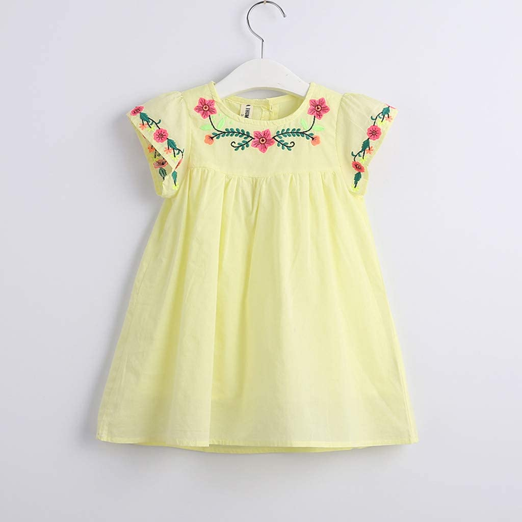 Colorful TM Summer Toddler Infant Baby Girls Dress Stars Elephant Print Sleeveless Dresses for 0-3 T