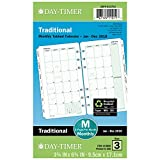 Day-Timer Refill 2019, Two Page per Month Calendars, January 2019 - December 2019, 3-3/4'' x 6-3/4'', Tabbed, Loose Leaf, Portable Size (10850)
