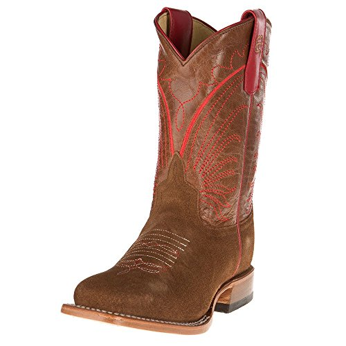 (Anderson Bean Boys Kid s Tobacco Roughout Cowboy Boot 3 Brown )