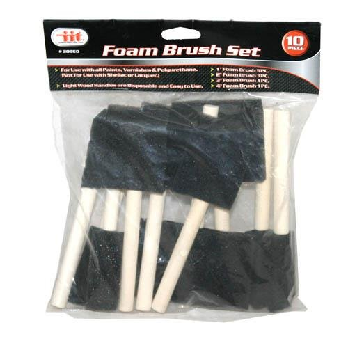 Foam Brush 10pc Woodhndl (Tools Foam Brushes)