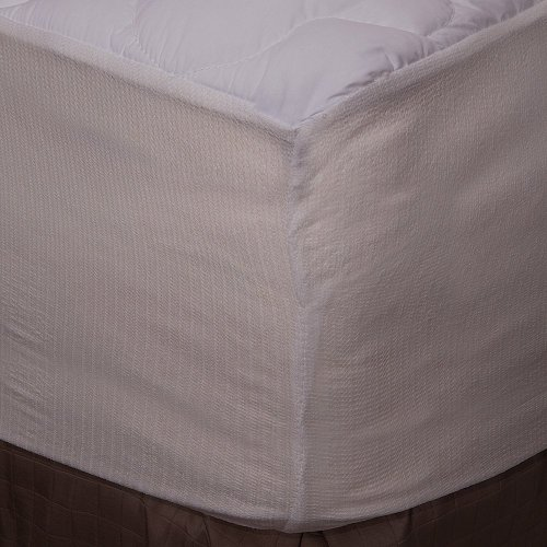 Five-Star Hotel Mattress Topper with Fitted Skirt, Queen
