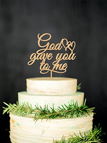 Amazon.com: Wedding Cake Topper Wood Rustic Cake Topper Wooden Cake ...