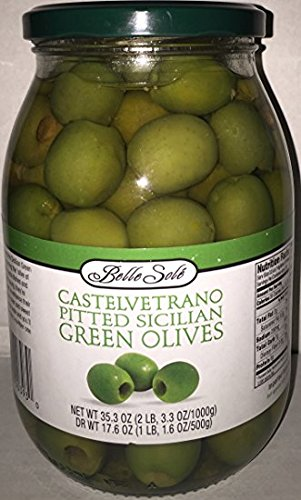 Castelvetrano 35.3oz Pitted Sicilian Green Olives