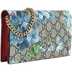 Gucci Womens Blooms Crossbody Wallet Chain Shoulder Bag 546368