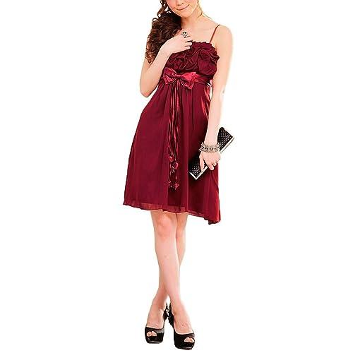 VIP Dress Chiffon Cocktailkleid   Brautjungfernkleid   Abschlusskleid kurz  in Rot, Grün und Pink d859077441