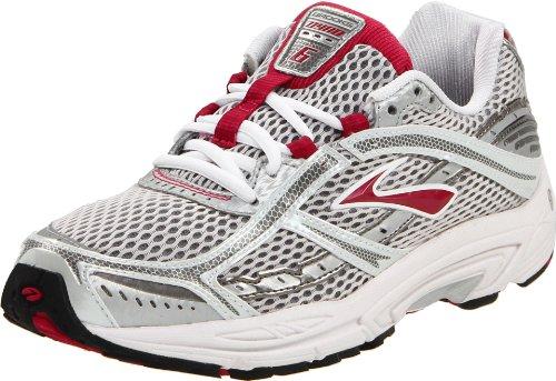 Brooks Women's Dyad 6 Running Shoe,Cerise/Metallic/Silver/Wh