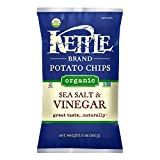 Kettle Brand, Organic Kettle Chips; Sea Salt & Vinegar, Pack of 15, Size - 5 OZ, Quantity - 1 Case