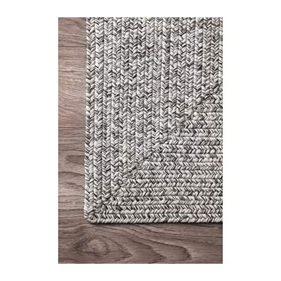 "nuLOOM Lefebvre Braided Indoor/Outdoor Runner Rug, 2' 6"" x 6', Salt and pepper - Style: Contemporary, Solid & Striped, Outdoor, Coastal Material: 100% Polypropylene Weave: Braided - runner-rugs, entryway-furniture-decor, entryway-laundry-room - 51z5Vu5lxBL. SS570  -"