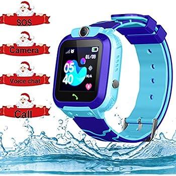 Smart Watch for Kids GPS Tracker - IP67 Waterproof Smartwatches with SOS Voice Chat Camera Flashlight Alarm Clock Digital Wrist Watch Smartwatch Girls ...