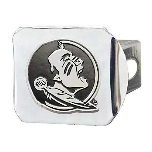 FANMATS  15085  NCAA Florida State University Seminoles Chrome Hitch - Cover Florida Hitch State