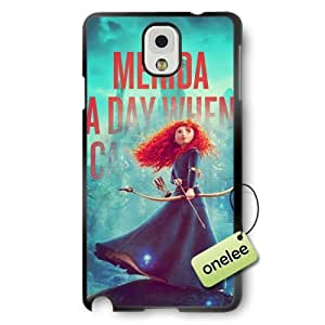 Disney Brave Princess Merida Soft Rubber(TPU) Phone Case & Cover for Samsung Galaxy Note 3 - Black