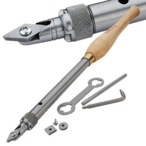 Robert Sorby RSTM-HCT123 TurnMaster Handled with Round, Detail Point, & Square Tungsten Carbide Cutters