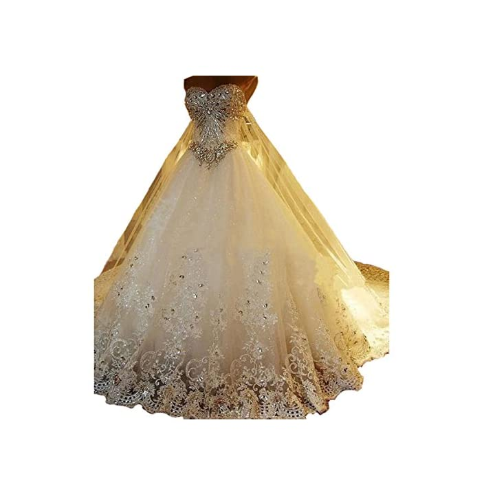 79277378894 ... 2018 Princess Long Train Lace Ball Gown Wedding Dress for Bride
