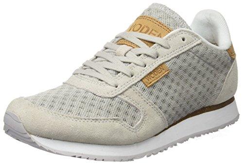 Woden Kvinder Ydun Ruskind Mesh Sneaker, Sort (hvid)