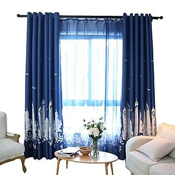 PEIWENIN Schlafzimmer Vorhänge Moderne fertig Wohnzimmer Vorhänge ...