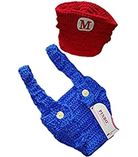 Amazon.com: osye bebé recién nacido Crochet punto Outfit ...
