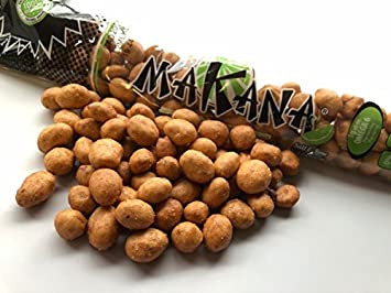 Makana Japanese Peanuts Dry Roasted with Lime 3.7 Ounce - Pack of 14