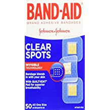 Band-Aid Brand Adhesive Bandages, Comfort-Flex Clear Spots, 50 Count