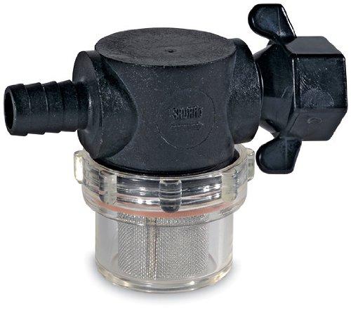 SHURFLO 255-325 1/2'' Barb Swivel Nut Strainer