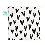 Bumkins Reusable Snack Bag, Large, Hearts