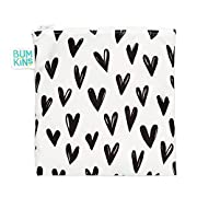 Bumkins Reusable Snack Bag, Hearts, Large
