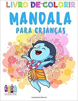 Livro de colorir mandala para crianças de 3-5 anos ~ Mandalas fáceis: pinguins, vacas, cachorros, pássaros, carros, esquilos, coelhos, gatos, macacos, ...