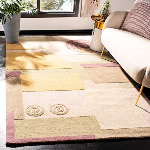 Safavieh Rodeo Drive Collection RD643A Handmade Modern Abstract Beige Wool Area Rug (2' x 3')