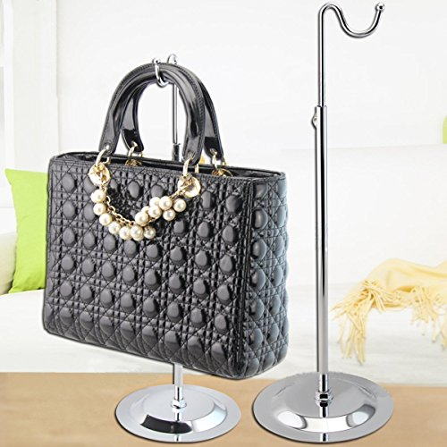 1 Silver metal Countertop Handbag Display Hook Chrome Purse -