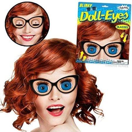 Blinky Doll-eyes Glasses - Eye Novelty Glasses