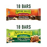 Nature Valley, 36 ct Variety Pack, Crunchy Oats & Honey and Sweet & Salty Dark Chocolate Peanut Almond, Bulk Gift Pack