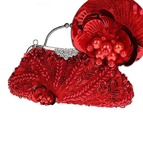 de Parti Sac A Bal Soirée Et de Jours soirée à Femme fériés Main 12x7inch pour Présente Perles Pochette Oversize 31x19cm D soirée Fashion Sacs d'autres 6qSaIWwx4