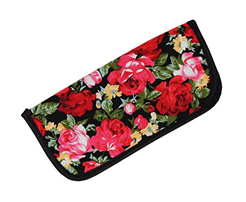 - Soft Slip In Eyeglass Case for Women Glasses, Reading Glasses, or Sunglasses - Fabric Floral Case