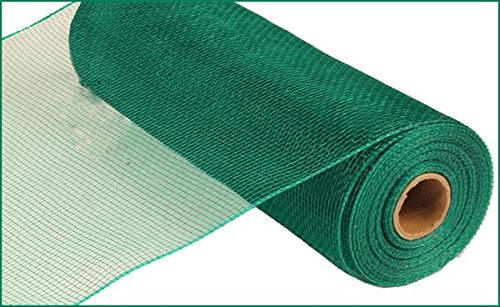 10 Inch x 30 Feet Deco Poly Mesh Ribbon - Emerald Green Non Metallic : RE130206 -