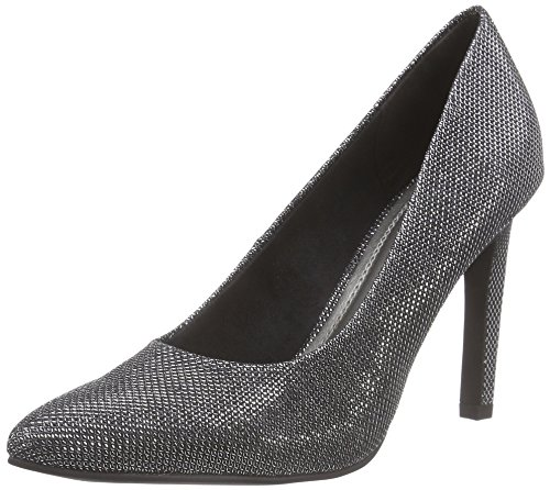 Metallic Tacón 22405 Zapatos black Mujer De 011 Schwarz Marco Tozzi x8RqZZ