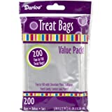 Darice 28-001V 3-Inch-by- 4-3/4-Inch Clear Treat Bag 200-Pieces