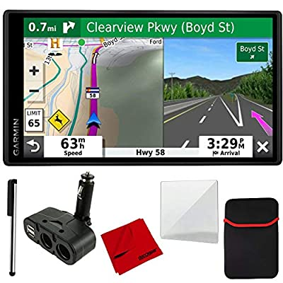 Garmin DriveSmart & Traffic with Included Cable & 4 Port USB/DC Car Charger and More