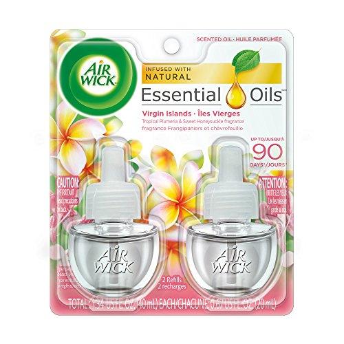 (Air Wick plug in Scented Oil 2 Refills, Virgin Islands, (2x0.67oz), Essential Oils, Air Freshener)