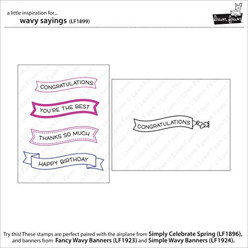 Lawn Fawn - Simply Celebrate Spring Clear Stamp and Die Sets with Wavy Saying Clear Stamps - 3 Items by Lawn Fawn (Image #5)