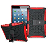KAYSCASE ArmorBox Heavy Duty Protection Cover Case with Stand for iPad Mini (Red)
