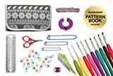 Gold Medal Crafts 44-Piece Ergonomic Crochet Kit with Canvas Carrying Case - Elephant Pattern