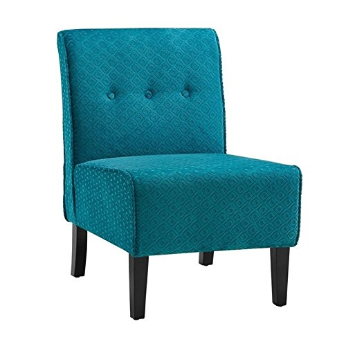 Cheap Linon Coco Accent Chair in Teal Blue
