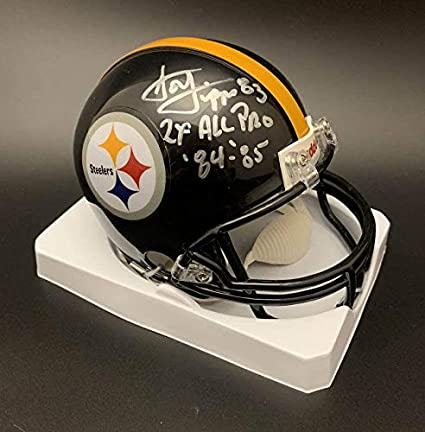 374dd338b Image Unavailable. Image not available for. Color: Louis Lipps Autographed  Mini Helmet - Pittsburg ...
