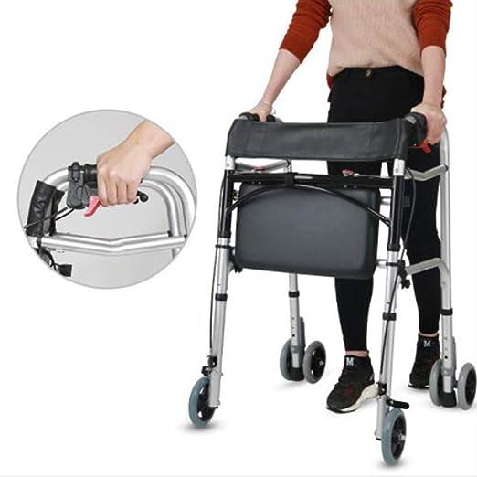 Andador plegable: soporte con ruedas delanteras, andador ...