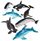 Rhode Island Novelty 5.5'-7.5' 7 Pc Whales and Dolphins