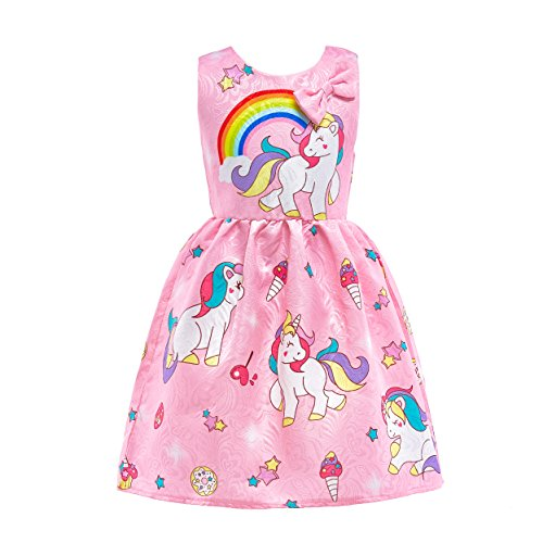Dressy Daisy Girls Dress Costumes Unicorn Costumes Fancy Dress up Size 5 Pink FC128 -