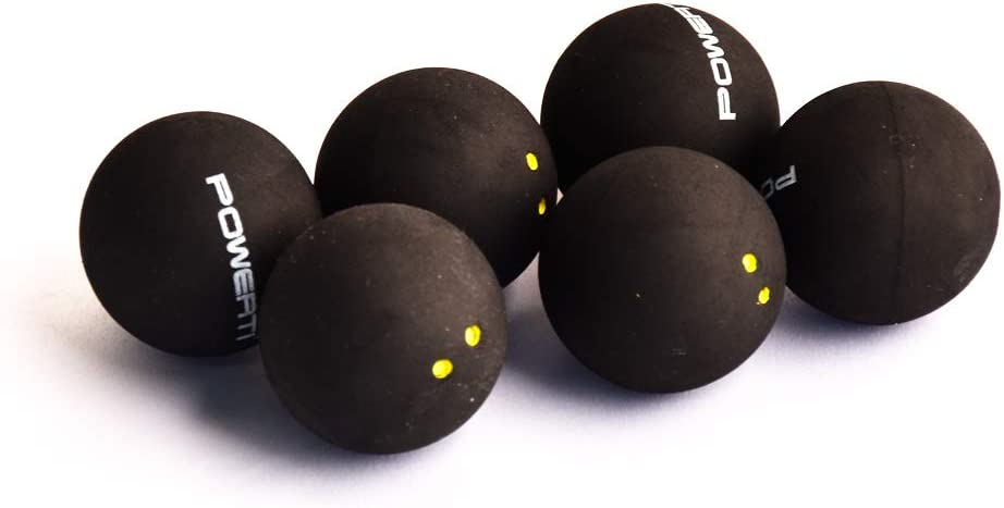 6 Each Pack mike Double Yellow Dot Squash Balls