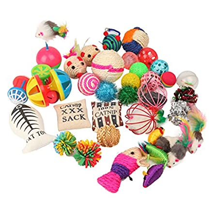 Fashion's Talk Cat Toys Variety Pack for Kitty...