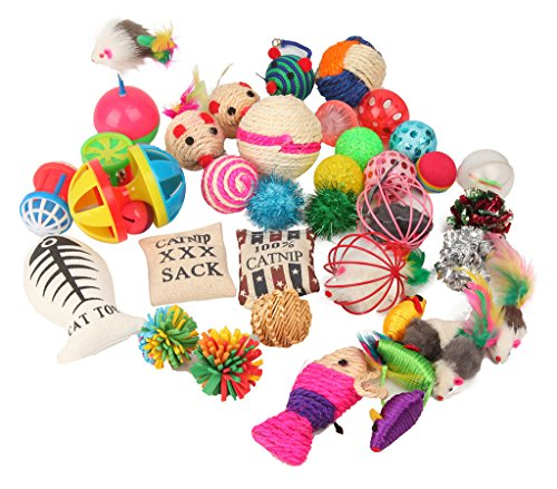 - Fashion's Talk Cat Toys Variety Pack for Kitty 20 Pieces