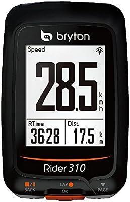 Bryton Rider 310E Ordenador de Ciclismo con GPS, Unisex, Negro ...